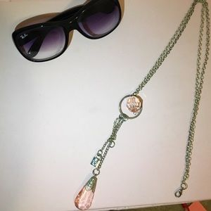 Pink & Silver Statement Necklace